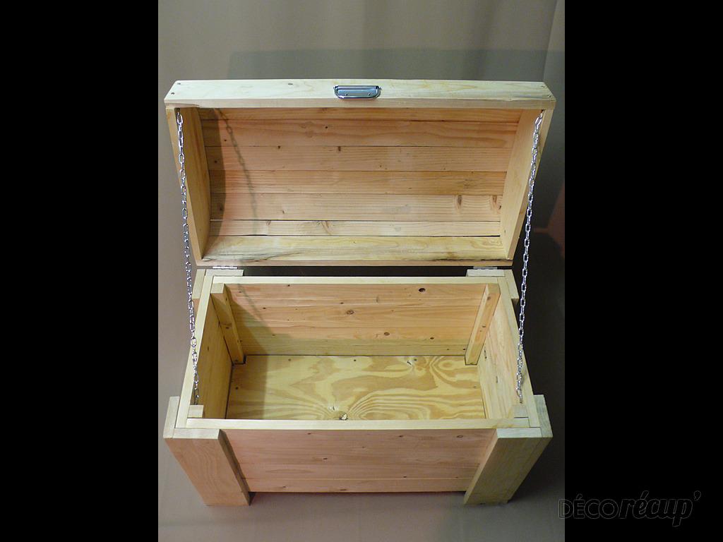 Malle en bois de palette Par yodam # Fabriquer Une Caisse En Bois Avec Couvercle