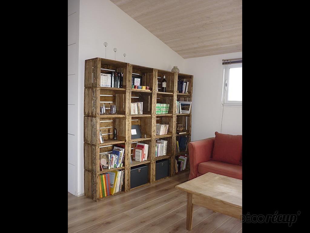 bibliotheque tendance caisses a pommes par yohan bled. Black Bedroom Furniture Sets. Home Design Ideas