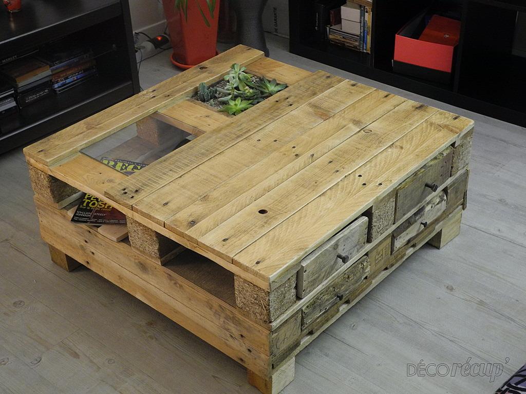 Table basse par tito sunj - Realiser une table basse en palette ...