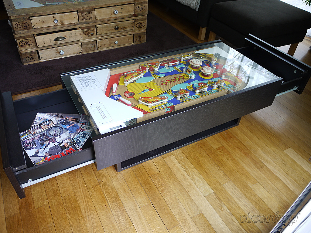 table basse de salon flipper gottlieb pinball par bc 39 r ation. Black Bedroom Furniture Sets. Home Design Ideas