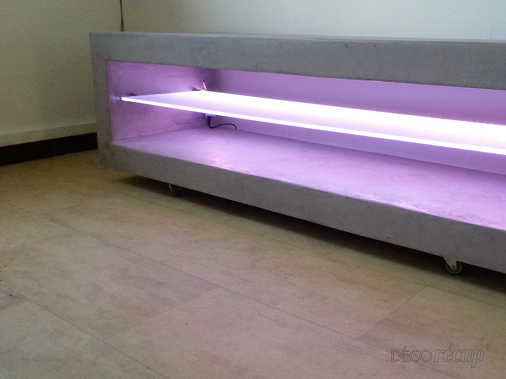 Meuble Tv B Ton Cir Led Par Etsmorcant Com # Meuble Bas Beton Ciree