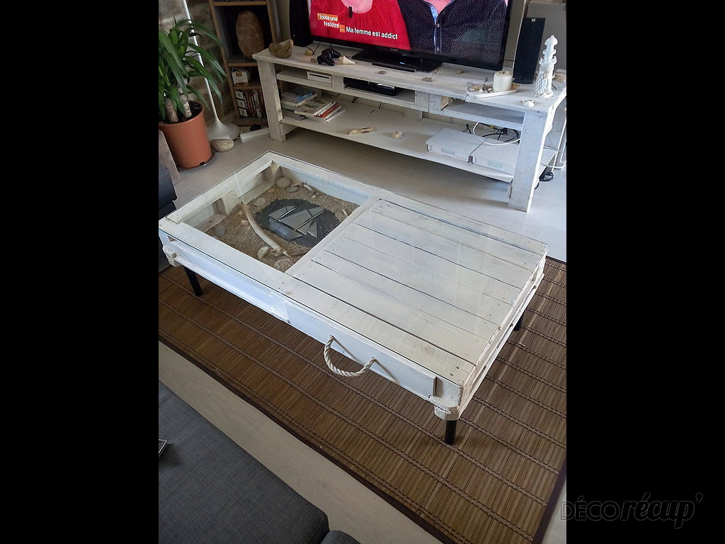 Ensemble table basse meuble tv bord de mer par justine hamon for Meubles bord de mer