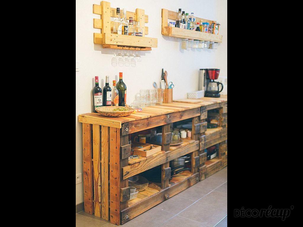 le buffet par palette woody