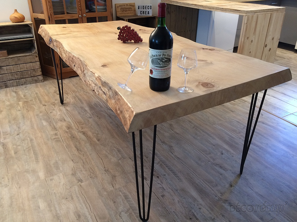 Table de salle manger l 39 authentique par id co cr ation - Table en chene brut ...