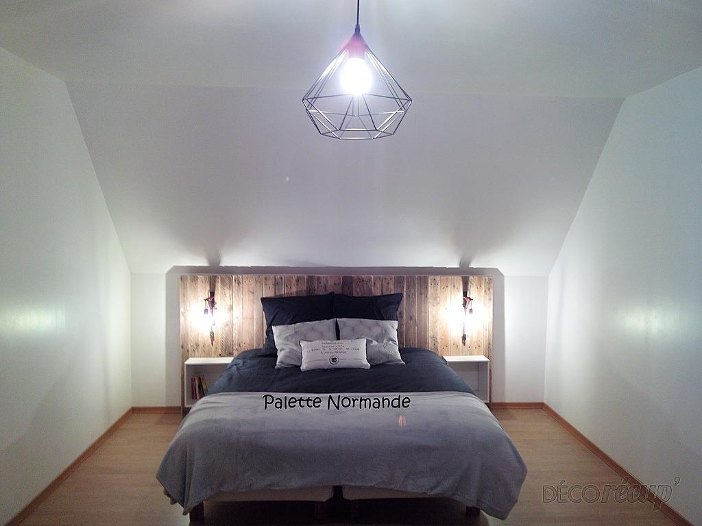 t te de lit par palette normande. Black Bedroom Furniture Sets. Home Design Ideas