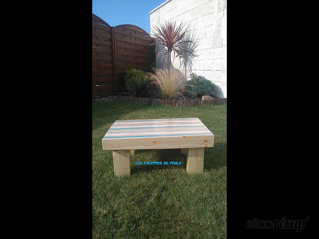 table basse ext rieure 100 bois de palettes par les. Black Bedroom Furniture Sets. Home Design Ideas