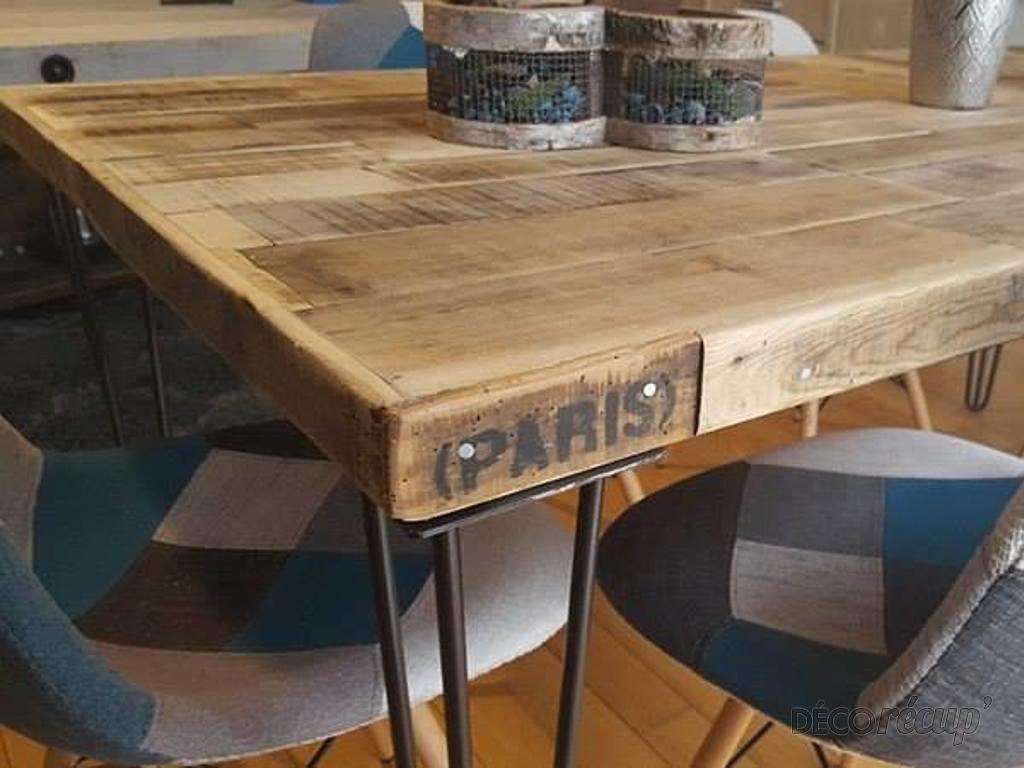 table salle manger r cup et pieds ripaton par jean perea. Black Bedroom Furniture Sets. Home Design Ideas