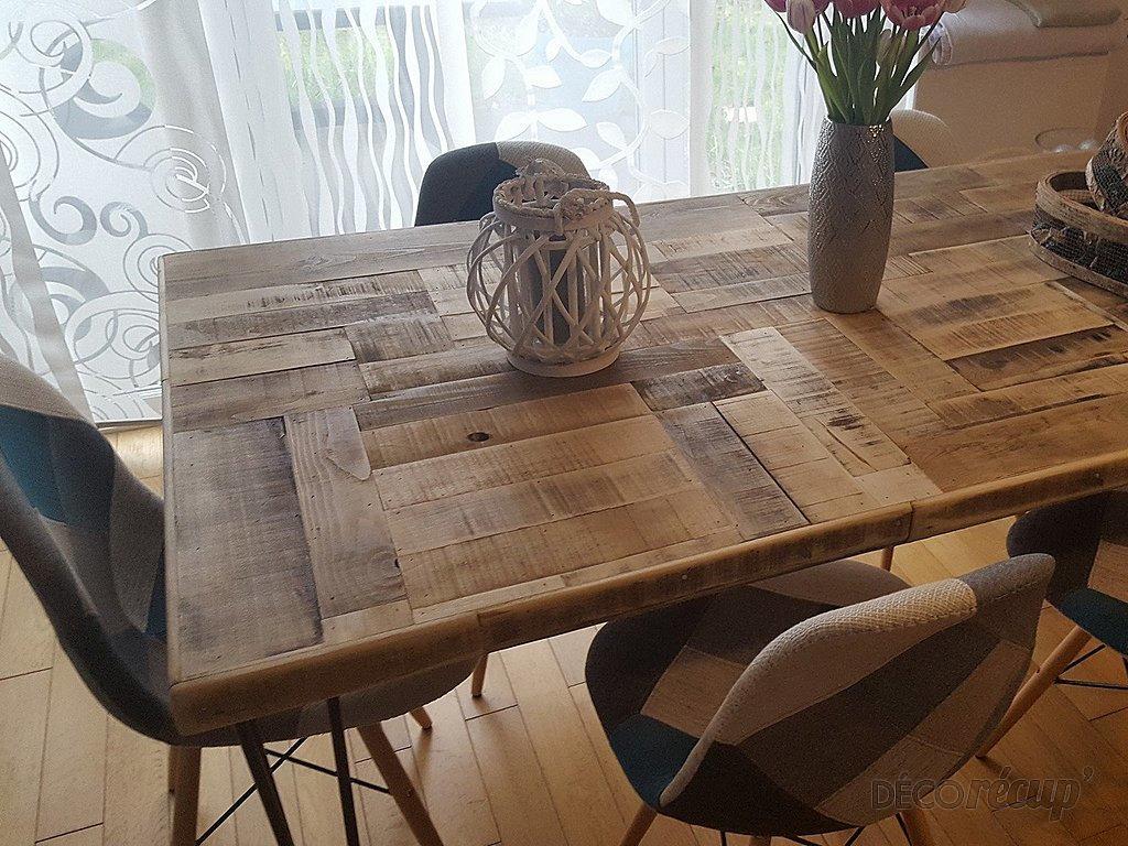 Table salle manger r cup et pieds ripaton par jean perea - Table salle a manger recup ...