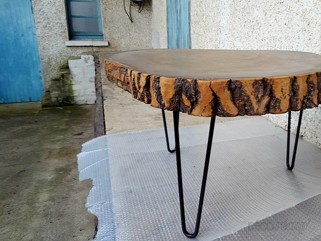 """Ripaton Pieds De Table table basse """"une tranche de vie"""" par adopteunecaisse"""